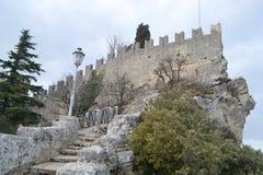 Festung in San Marino Lizenzfreies Stockfoto