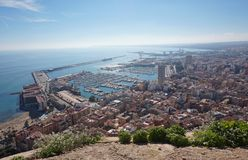 Festung Santa Barbara, Alicante Lizenzfreie Stockfotografie
