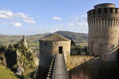 Festung und Glockenturm Stockfotografie