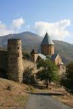 Festung und Kirche Stockfoto
