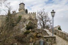 Festung von Guaita, San Marino lizenzfreie stockfotos