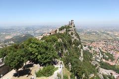 Festung von La Rocca. San Marino lizenzfreies stockfoto