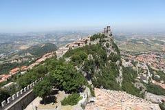 Festung von La Rocca. San Marino lizenzfreies stockbild