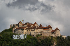 Festung von Rasnov stockbild