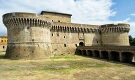 Festung von Rocca Roveresca gelegen in Senigallia in der Marken-Region in der Provinz von Ancona Für Reise und historisches conce Lizenzfreie Stockfotos