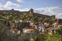 Festung von Samuil in Ohrid macedonia stockbild