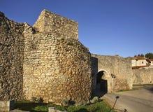 Festung von Samuil in Ohrid macedonia stockbilder