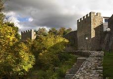 Festung von Samuil in Ohrid macedonia lizenzfreie stockfotos