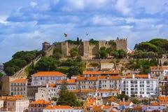 Festung von St George - Lissabon Portugal lizenzfreies stockfoto