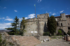 Festung von Triest an einem sonnigen Tag stockbild