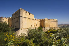 Festung, welche die alte Stadt übersieht Stockfotografie