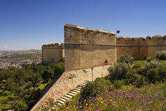Festung, welche die alte Stadt übersieht Lizenzfreie Stockfotografie