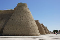 Festungs-Arche, Seidenstraße, Bukhara, Usbekistan, Asien stockfoto