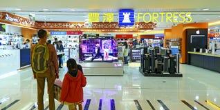 Festungselektronikspeicher in Hong Kong Stockfotos