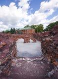 Festungsruinen Stockfoto