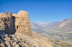 Festungsruinen auf Tadschikistan Stockfotografie