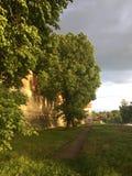 Festungswände des Kremls in Zaraysk Russland lizenzfreies stockfoto