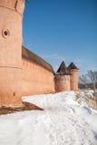 Festungswand stockbild