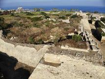Festungswand Nationalpark Caesarea Stockbild