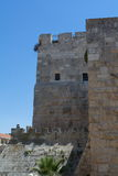 Festungswand von Jerusalem Stockbild