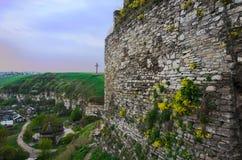 Festungswand vor Sonnenuntergang Stockfotos