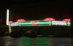 Festzelt wieder hergestellten Whiteside-Theaters in im Stadtzentrum gelegenem Corvallis, Oregon lizenzfreie stockfotos