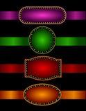Festzeltrand mit Farbbändern Stockfoto