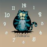 Fet katt stock illustrationer