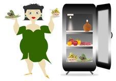 fet kvinna royaltyfri illustrationer
