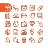 Fet linje symbolsuppsättning för affär Arkivfoto