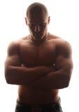 Fet male modell arkivfoto