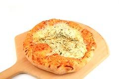 fet pizza arkivbild