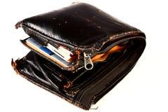 fet plånbok Arkivfoto