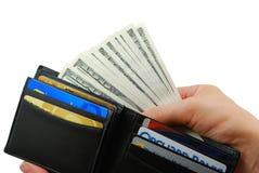 fet plånbok Fotografering för Bildbyråer