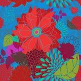 fet seamless blommamodell Royaltyfri Bild