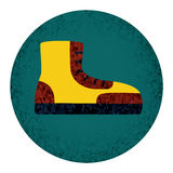 Fet symbol för känga med texturerade beståndsdelar Stock Illustrationer