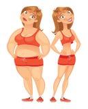 fet tunn kvinna Fotografering för Bildbyråer