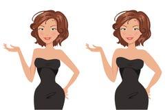 fet tunn kvinna också vektor för coreldrawillustration Royaltyfri Bild