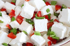Feta and capsicum salad Royalty Free Stock Images