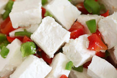 Feta and capsicum salad Stock Photography