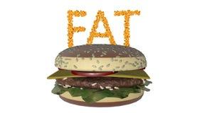 Feta celler begrepp för den vård- risken för fetma- eller banta och näringproblem Alfabetiskmatten inkluderar stock illustrationer