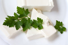 Feta cheese Royalty Free Stock Photos