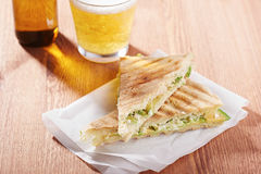 Feta cheese and avocado sandwich Royalty Free Stock Photography