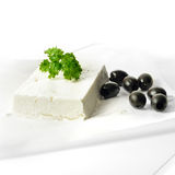 Feta Cheese And Black Olives Stock Image