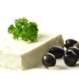 Feta Cheese And Black Olives 2 Royalty Free Stock Photo