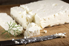 Feta cheese block Royalty Free Stock Photography