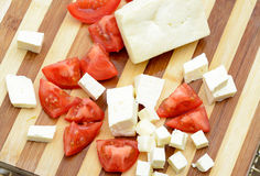Feta cheese board Royalty Free Stock Images