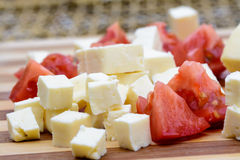 Feta cheese board Royalty Free Stock Photo
