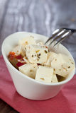 Feta cheese in a bowl Royalty Free Stock Image