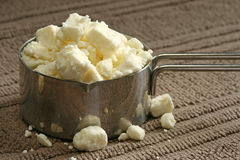 Feta Cheese Crumbles Stock Image
